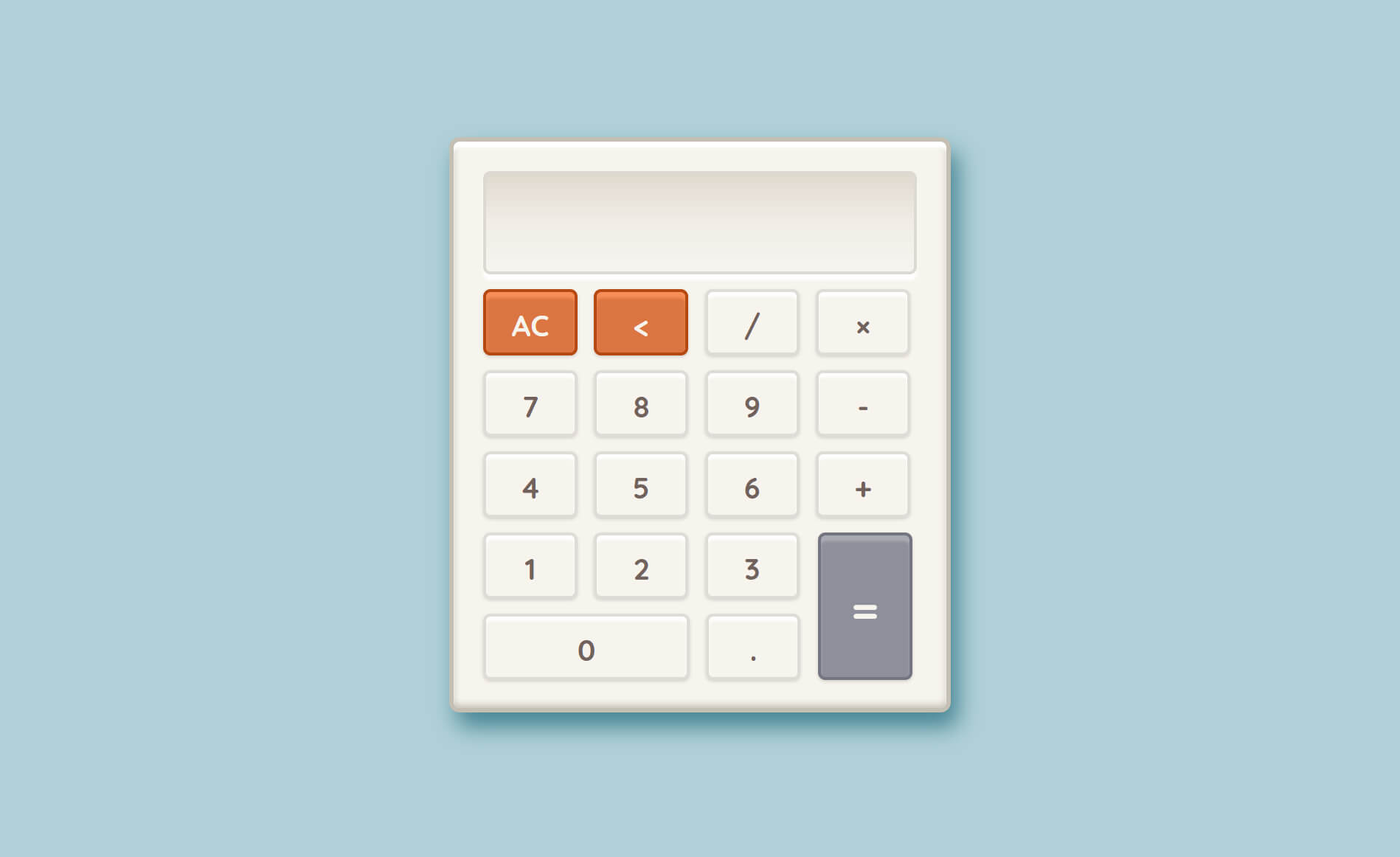 Calculator project screenshot